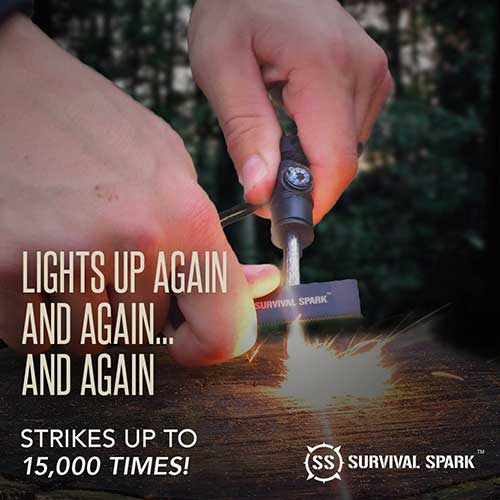 Survival Spark Magnesium Fire Starter Kit