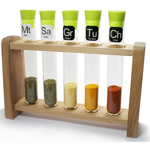 Test Tube Science Chemistry Spice Rack