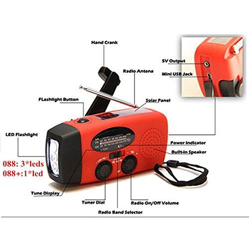 Emergency Hand Crank Flashlight Radio