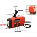 Emergency Hand Crank Flashlight Radio